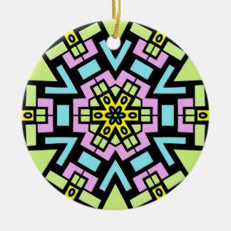 Cartoon Kaleidoscope 06 Round Ceramic Decoration
