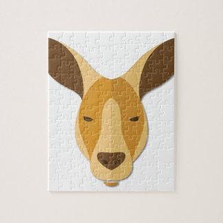 Cartoon Kangaroo Head Puzzles