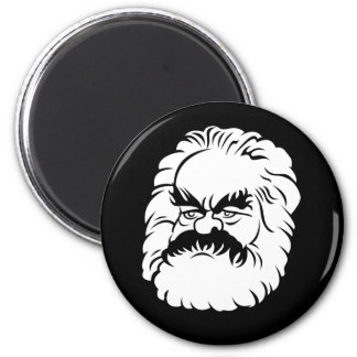 Cartoon Karl Marx Magnet (Black)