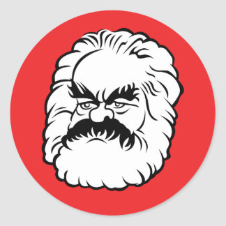 Cartoon Karl Marx Sticker (Red)