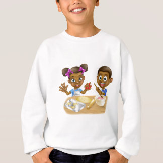 Cartoon Kid Bakers Cooking Sweatshirt