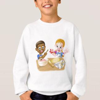 Cartoon Kid Chefs Baking Cakes Sweatshirt