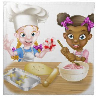 Cartoon Kid Chefs Cooking Napkin
