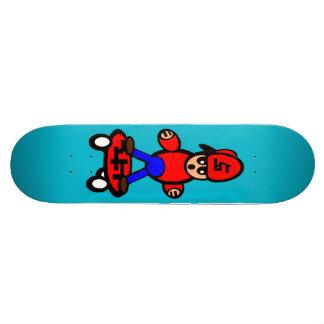 Cartoon Kid Skateboarding Skateboard