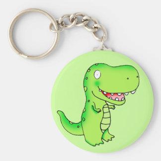 cartoon kids dinosaur T-rex Key Ring