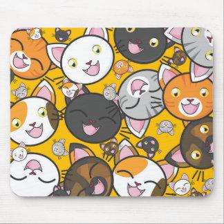Cartoon Kitty Cats Fun Mouse Pad