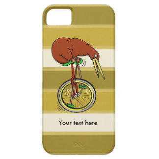 Cartoon Kiwi Bird Unicyling iPhone 5 Case