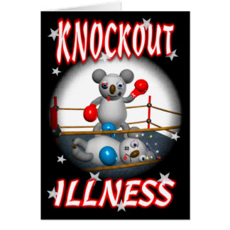 Cartoon Koala Boxer Get well card