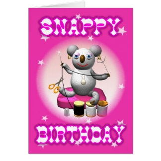 Cartoon Koala Snappy Birthday Card