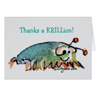 Cartoon Krill Thank You Card