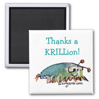 Cartoon Krill Thank You Gift Magnet