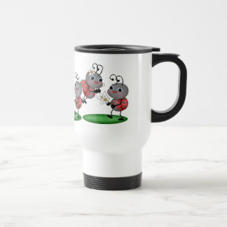 Cartoon Ladybug Animal Travel Mug