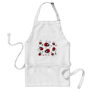 Cartoon ladybugs pattern standard apron