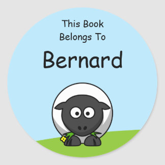 Cartoon Lamb Book Stickers