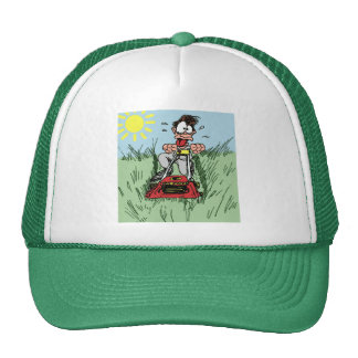 Cartoon Lawn Mowing Hat