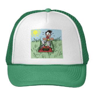 Cartoon Lawn Mowing Hat