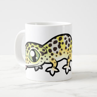 Cartoon Leopard Gecko Large Coffee Mug