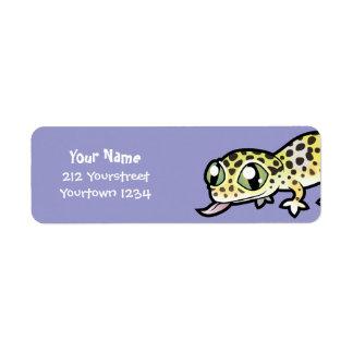 Cartoon Leopard Gecko Return Address Label