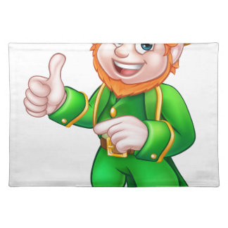 Cartoon Leprechaun St Patricks Day Character Placemat