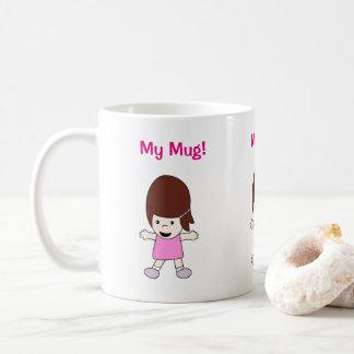 "Cartoon Lesley ""My Mug!"" Design Coffee Mug"