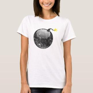 Cartoon Letterpress Style Bomb T-Shirt