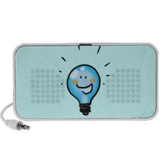 Cartoon light bulb character laptop speaker