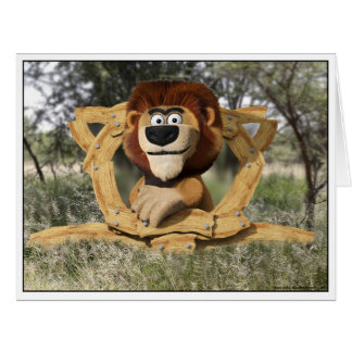 Cartoon Lion Animal card