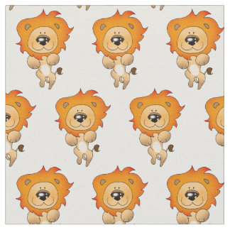 cartoon lion cat fabric