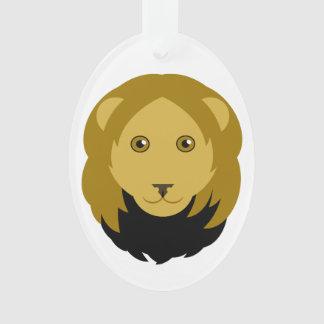 Cartoon Lion Face Ornament