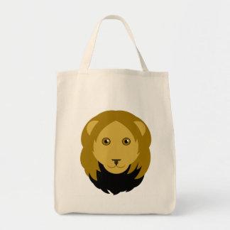 Cartoon Lion Face Tote Bag