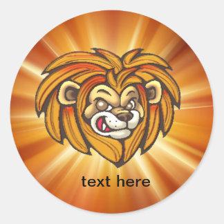 Cartoon Lion Face Wildlife Stickers