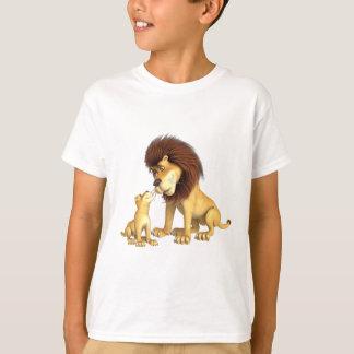 Cartoon Lion Father & Son T-Shirt