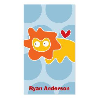 Cartoon Lion Kid Fun Custom Photo Profile Card Business Card Templates