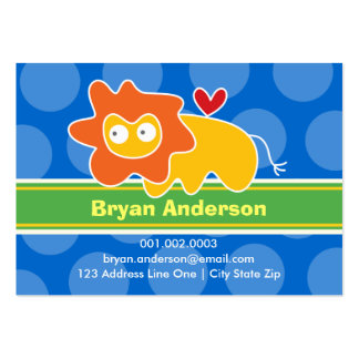 Cartoon Lion Kid Photo Profile / Name Card Business Cards
