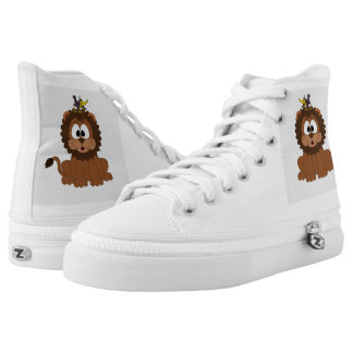 Cartoon Lion Printed Shoes