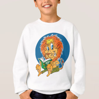 Cartoon Lion Reading Sweatshirt