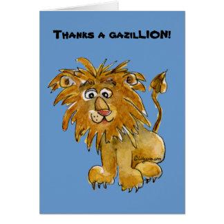 Cartoon Lion Thank You Cards