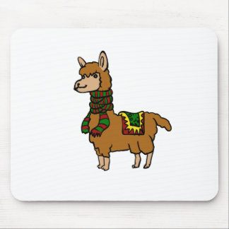 Cartoon Llama Mouse Pad