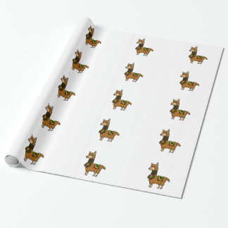 Cartoon Llama Wrapping Paper