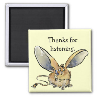 Cartoon Long Eared Jerboa Thank You Gift Magnet