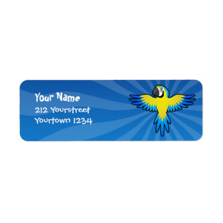 Cartoon Macaw / Parrot Return Address Label