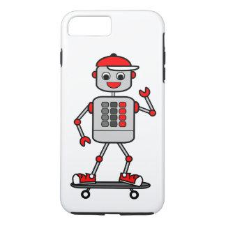 Cartoon Male Robot on Skateboard iPhone 7 Plus Case