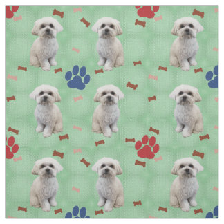 Cartoon Maltese Fabric