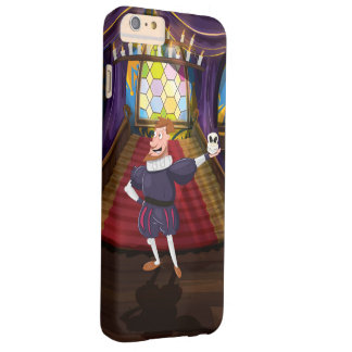 Cartoon man reciting shakespeare play. barely there iPhone 6 plus case