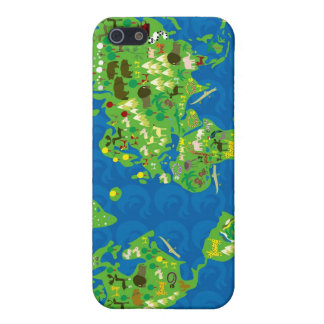 cartoon map of the world iphone 4 speck case case for iPhone 5/5S
