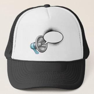 Cartoon Megaphone and Speech Bubble Trucker Hat