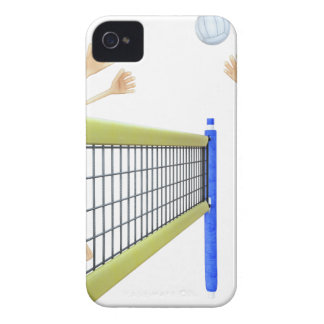 Cartoon Men Playing Volleyball iPhone 4 Case