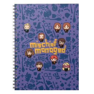 """Cartoon """"Mischief Managed"""" Graphic Notebook"""