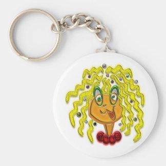 Cartoon Modern Girl Print Key Chains