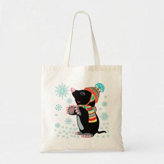 cartoon mole tote bag